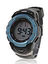 Masculino Relógio Esportivo LCD Calendário Cronógrafo Impermeável alarme Digital Banda Preta
