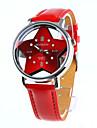 mulheres e menina relógio de pulso de moda (vermelho)