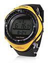 wasserdicht solarbetriebene Uhr mit Alarm-& el Licht & Chronographen - gelb