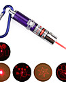 4 in 1 Red Laser LED Keychain - Purple