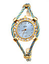 Mulheres Relógio de Moda Bracele Relógio Relógio de Pulso Quartzo Lega Banda Azul Dourada