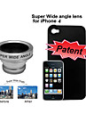0.5X Super Wide Angle Lens with Protective Back Case for Apple iPhone 4