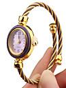 Mulheres Relógio de Moda Relógio de Pulso Bracele Relógio Quartzo Banda Cores Múltiplas Dourado
