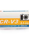 2000mah pile pour appareil photo rcr-v3 pour casio gv-20, Kodak série CX et plus