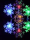 6m 3w 32 LED 다채로운 빛 눈송이 모양의 문자열 요정 램프 (110/220v)