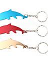 돌고래 모양의 병 오프너 열쇠 고리 (랜덤 색상)