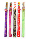 Traditional Oriental Art Wooden Chopsticks with Pouches (5-Pack)