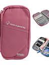 bolso de almacenamiento multifuncional + titular del pasaporte (rosa)