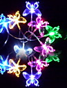 6M 3W 32-LED Colorful Light Butterfly Shaped String Fairy Lamp (110/220V)