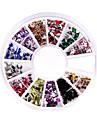 240 Nail Art Rhinestone Glitter Tip Mix Gem Wheel
