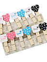 Love Heart Shaped Mini Wooden Clamp (14-Pack)