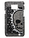Skeleton Pattern Protective Case for Samsung i9100 (Black)