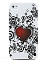 """Мягкий защитный чехол """"Сердце"""" для iPhone 4 (белый)"""