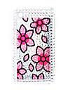 caso de volta com cristais de proteção para o iPhone 3G/3GS (flor)