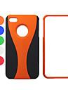 caso difícil de proteção de plástico para iphone 4 / 4s
