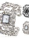moda feminina liga analógico pulseira relógio quartzo (cores sortidas)