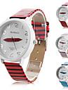 homens e mulheres pu relógio de quartzo analógico wirst com zebar de faixa (cores sortidas)