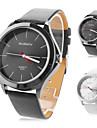 homens e mulheres compacto pu analógico relógio de pulso de quartzo (cores sortidas)