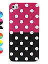 아이폰 4 원형 점 패턴 보호 케이스 (여러 색)