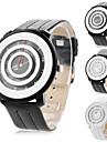 Men's and Women's Circle Face PU Analog Quartz Wrist Watch (Assorted Colors)