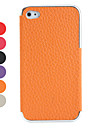 Lichi Pattern PU Leather Case for iPhone 4 and 4S (Assorted Colors)