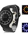Masculino Relógio Esportivo LED Digital Silicone Banda Preta