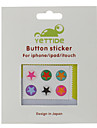 Home Button Sticker for iPhone, iPad and iPod (6 Pack, Star)