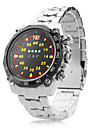 Men's Multifunction Alloy Digital LED Wrist Watch with Watch Case(Silver) Cool Watch Unique Watch