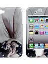 protettiva liscia schienale in policarbonato e custodia frontale per iPhone 4 e iPhone 4s (tatuata ragazza e ala)