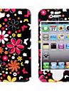아이폰 4와 아이폰 4S (화려한 꽃) 보호 부드러운 폴리 카보네이트 앞면과 뒷면 케이스를
