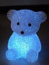 Мини медведя стиль Хрустальная ночь свет (случайный цвет)