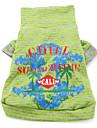 Гавайский стиль хлопка футболку (XS-XXL, зеленый)