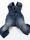Dog Pants Blue Dog Clothes Summer / Spring/Fall Jeans Cowboy / Fashion