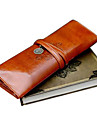 Vintage Totem Pattern PU Leather Pen Bag (Brown)
