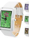 unisexe montre-bracelet analogique pu quartz (blanc)