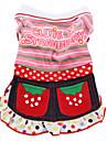 Cutie Strawberry Style Dress for Dogs (XS-XXL, Pink)