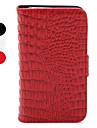 Etui de Protection en Cuir Style Portefeuille en Crocodile pour iPhone 4/4S