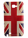 Antique UK Flag Pattern Protective Case for Samsung Note i9220