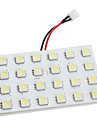 BA9S/Festoon/T10 7W 24x5050 SMD 450-480LM White Light LED Bulb for Car (DC 12V)