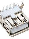 직각 USB 2.0 남성 소켓 커넥터 (20 개 팩)