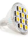 Gu4 (mr11) 2w 10 smd 5050 120 lm branco morno / branco quente mr11 spotlight conduzido dc 12 v