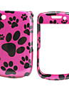 Cute Footprints Back Case and Bumper Frame for Blackberry 8520/9300 (Red)