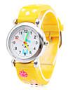 милый силиконовые аналоговые кварцевые наручные часы с мультфильма кролика (желтый)