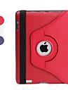 pu couro protetora rotable e engrossado caso e suporte para ipad 2/3/4 (cores sortidas)