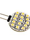 g4 3528 SMD LED 0.36W 15-ampoule lumière blanche chaude pour la voiture (12V DC)