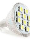 1W GU4(MR11) LED Spotlight MR11 10 SMD 5050 50-80 lm Natural White DC 12 V