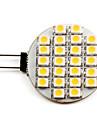 1W G4 Точечное LED освещение 24 SMD 3528 50 lm Тёплый белый DC 12 V
