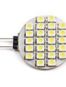 1.5W G4 Точечное LED освещение 24 SMD 3528 60 lm Естественный белый DC 12 V