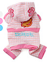 Dog Clothes/Jumpsuit Blue White Pink Dog Clothes Winter Spring/Fall Letter & Number Casual/Daily