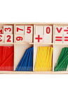 Wooden Arithmetic Sticks Props Set for Children